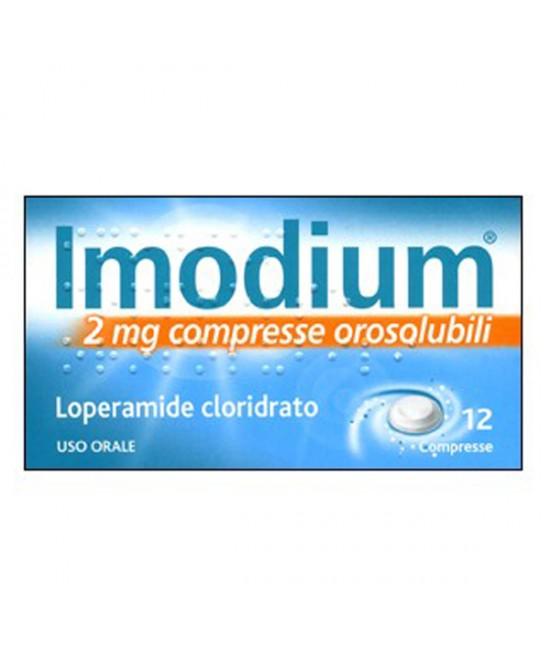 Imodium 2mg Trattamento Sintomatico Delle Diarree Acute 12 Compresse Orosolubili - FARMAEMPORIO