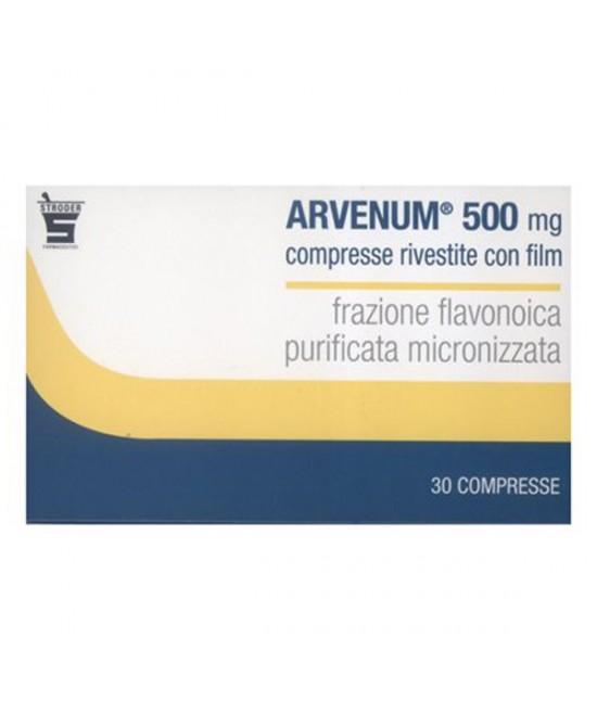 Stroder Arvenum 500mg Sintomi Attribuibili Ad Insufficienza Venosa Confezione 30 Compresse Rivestite - Farmacento