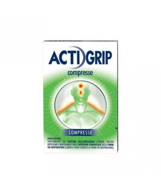 Actigrip Trattamento Dei Sintomi Dell'Influenza 12 Compresse - Farmacia 33