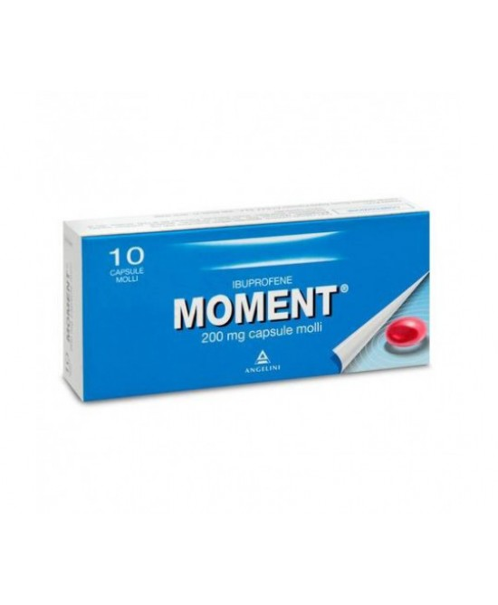 Moment  200mg 10 Capsule Molli - Farmawing