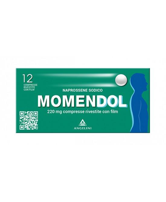 MomenDOL 220mg Naprossene Sodico 12 Compresse Rivestite - La tua farmacia online