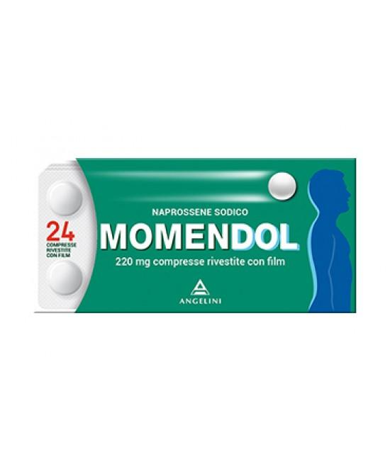 MomenDOL 220mg Naprossene Sodico 24 Compresse Rivestite - Farmacia 33