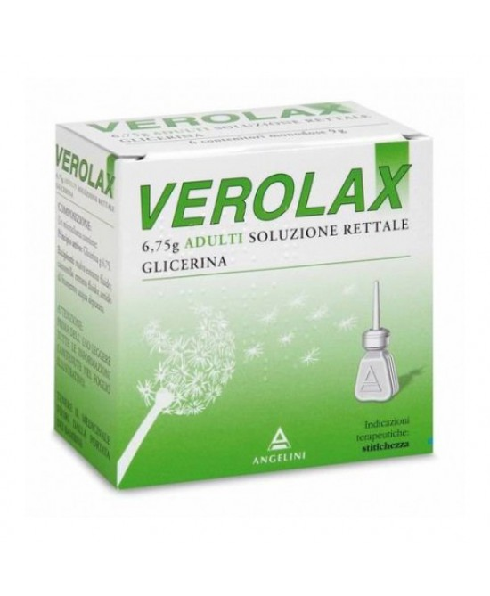 Verolax 6,75g Adulti Soluzione Rettale 6 Clismi - Farmawing