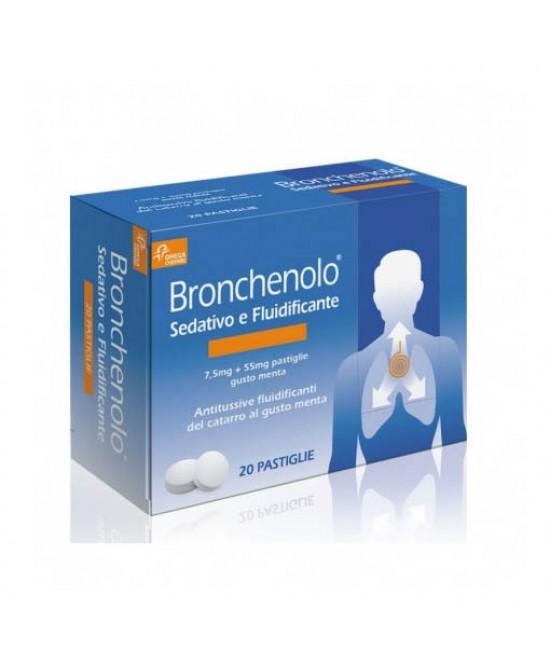 Bronchenolo Sedativo E Fluidificante Per Tosse E Catarro 20 Pastiglie Da Sciogliere in Bocca - Farmawing