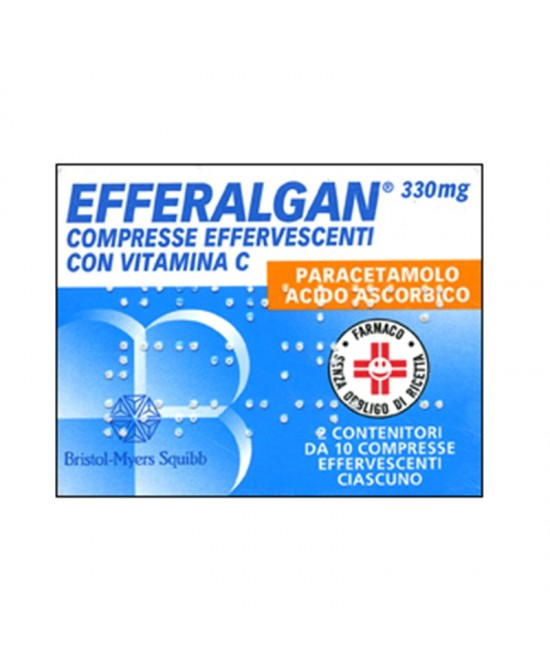 Efferalgan Paracetamolo 20 Compresse Effervescenti 330mg+200mg - La tua farmacia online