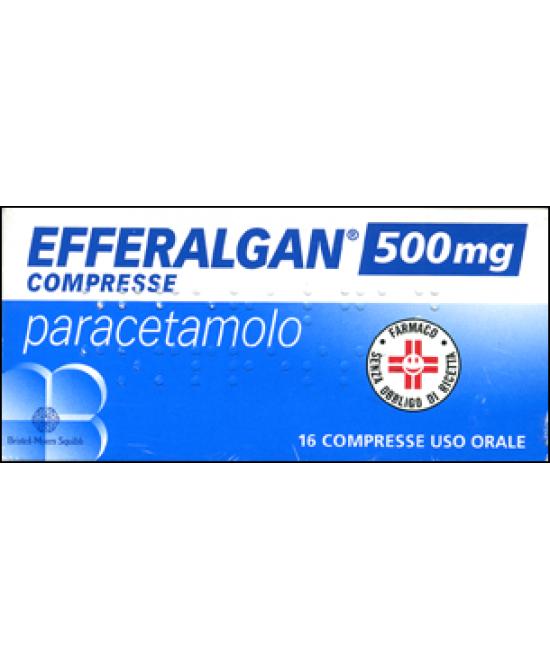 Efferalgan Paracetamolo 16 Compresse 500mg - Zfarmacia