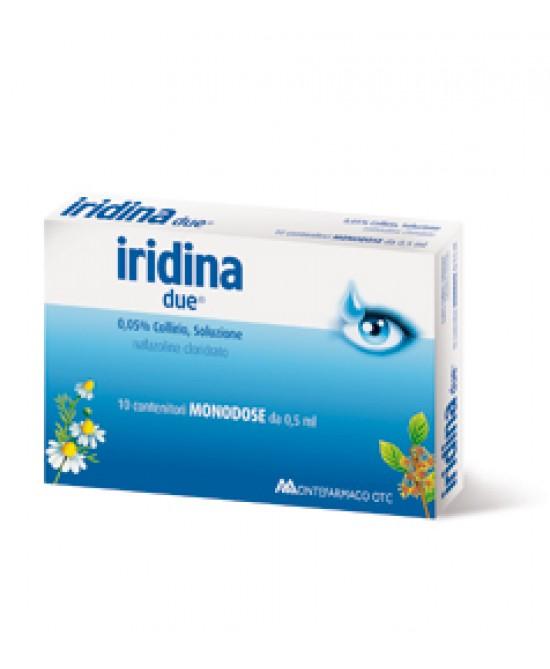 Montefarmaco Otc Iridina Due0,05% Collirio Per Occhi Irritati Ed Arrossati 10 Flaconcini 0,5ml - Farmacia 33