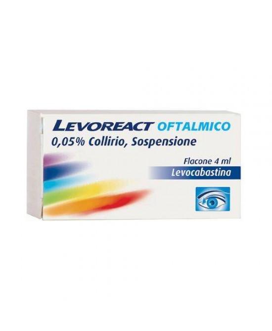 Levoreact Oftalmico 0,05% Collirio per Occhi Allergici 4 ml - Farmalilla