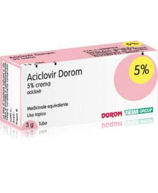 Aciclovir Dorom 5% Crema 3g - FARMAEMPORIO
