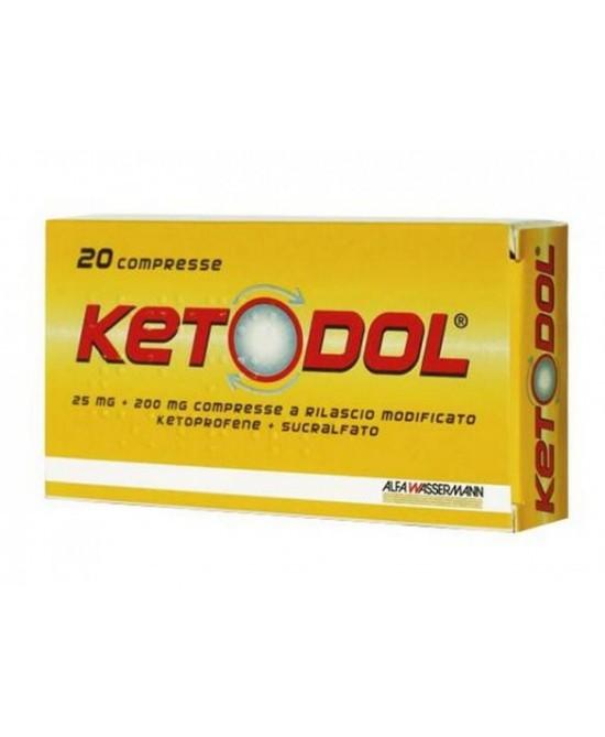 Alfa Wassermann Ketodol 20 Compresse 25mg+200mg - Farmacento