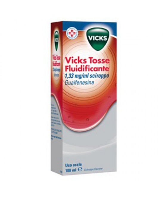 Vicks Tosse Fluidificante 1.33 mg/ml Sciroppo 180 ml - Farmalilla