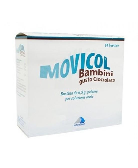 Movicol Bambini 6.9g  Polvere Per Soluzione Orale Gusto Cioccolato 20 Bustine - FARMAEMPORIO
