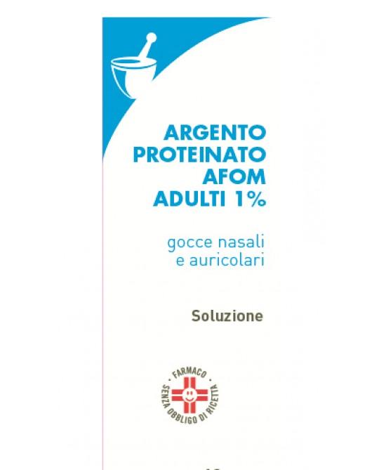 Argento Proteinato AFOM 1% Gocce 10ml - FARMAEMPORIO