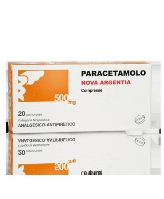 Paracetamolo Nova Argentia 500mg 20 Compresse - La tua farmacia online