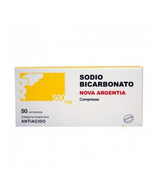 Nova Argentia Sodio Bicarbonato 500mg Per Acidità Di Stomaco 50 Compresse - Farmacento