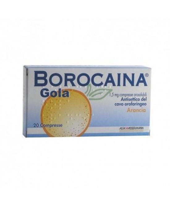 Borocaina Gola Gusto Arancia 20 Compresse - Farmacia 33