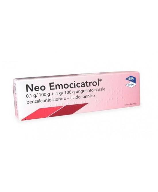 Neo Emocicatrol 0,1g/100g + 1g/100g Unguento Nasale 20g - Farmacia 33