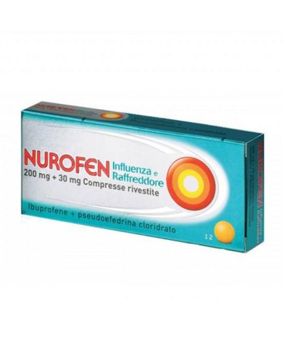 Nurofen 200mg + 30mg Influenza E Raffreddore 12 Compresse - La tua farmacia online