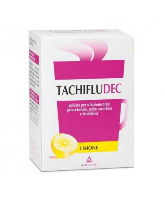 Angelini Tachifludec Per Raffreddore E Influenza Gusto Limone 10 Bustine - Farmacia 33