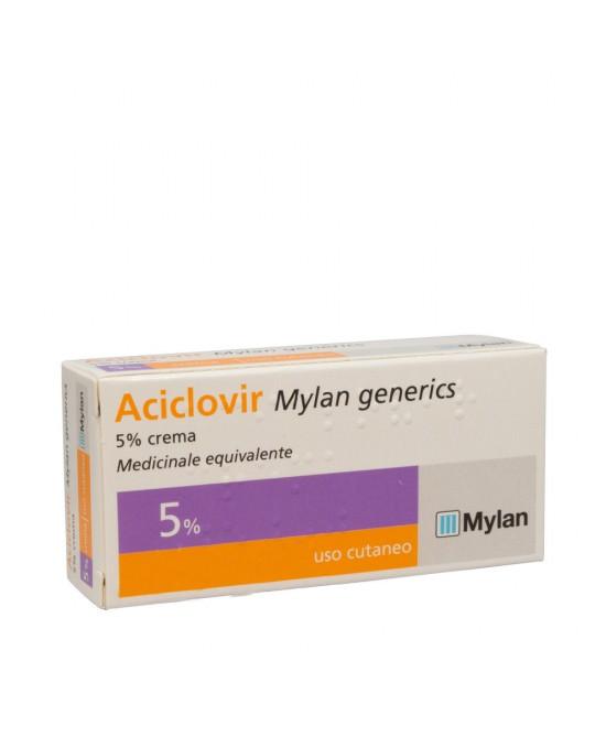 Aciclovir Mylan 5%  Crema 3g - FARMAEMPORIO