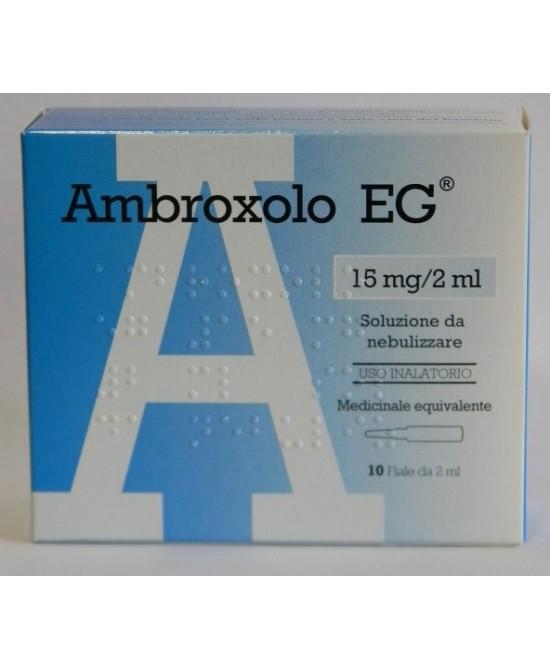 Ambroxolo EG 15mg 2ml Soluzione Da nebulizzare 10 Fiale - FARMAEMPORIO