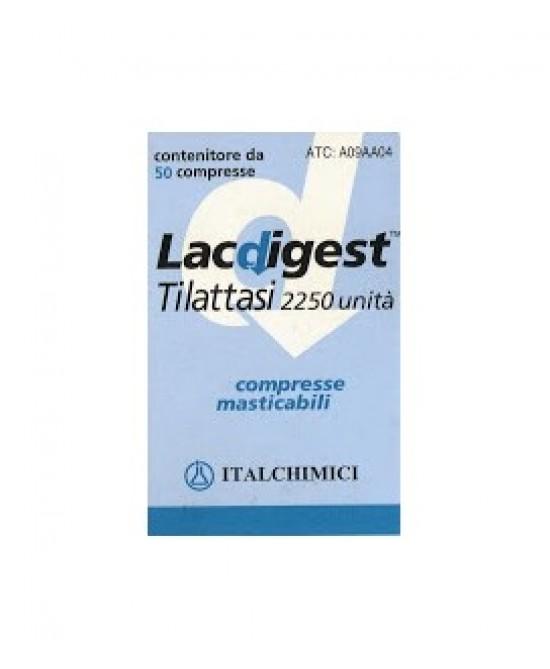 Lacdigest 2.250 U 50 Compresse Masticabili - FARMAEMPORIO