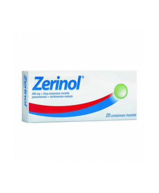 Zerinol 300mg+2mg 20 Compresse Rivestite - Farmacia 33