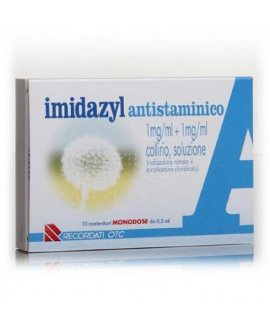Recordati Imidazyl Antistaminico Collirio 10 Flaconcini Monodose Da 0,5ml - Farmacia 33