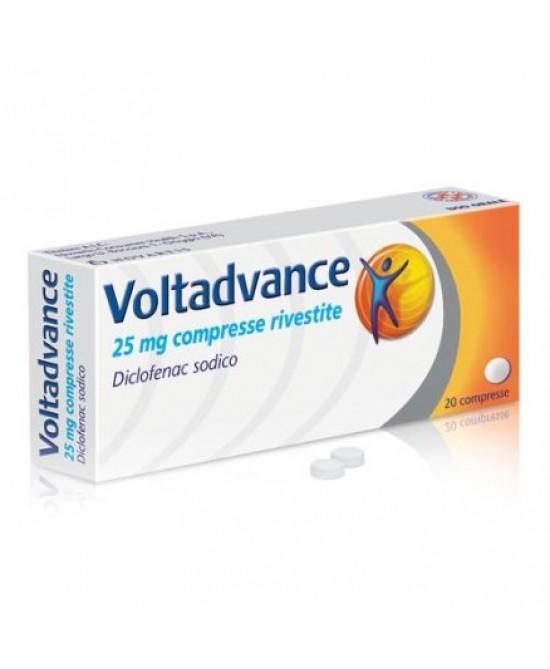 Novartis Voltadvance 20 Compresse Rivestite Da 25mg - Farmacento