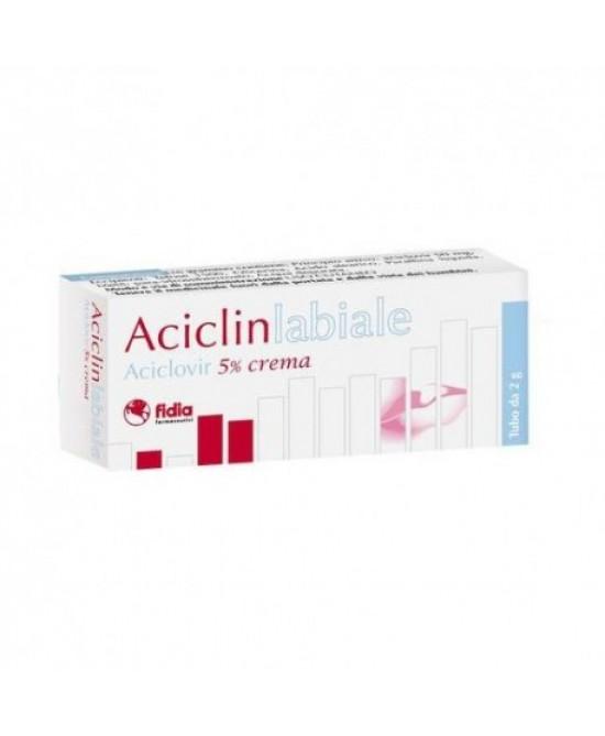 Fidia Aciclin Labiale Aciclovir 5% Crema Per Herpes Labiale 2g - La tua farmacia online