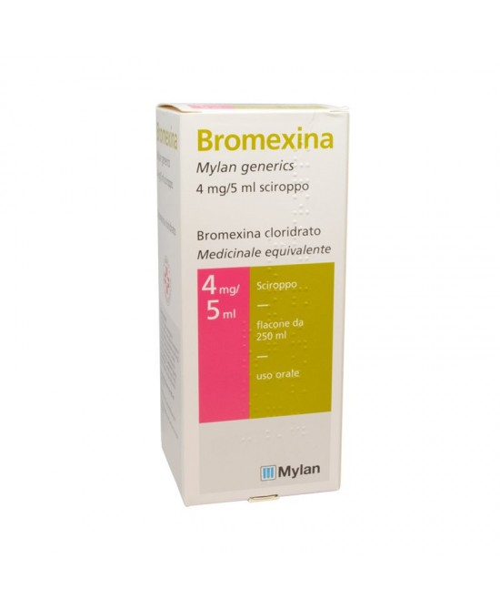 Bromexina Mylan 4mg/5ml Sciroppo 250ml - Farmastar.it