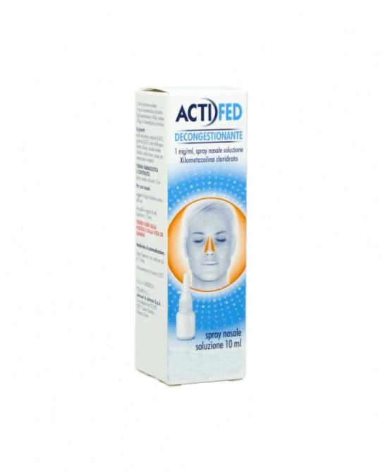 ActiFed Decongestionante 1mg/ml Spray Nasale 10ml - La tua farmacia online