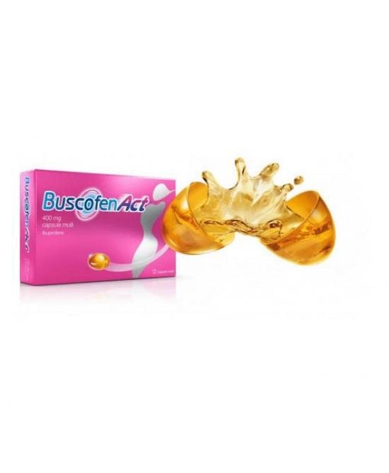 Buscofenact 400mg Ibuprofene Antidolorifico 12 Capsule Molli - La tua farmacia online