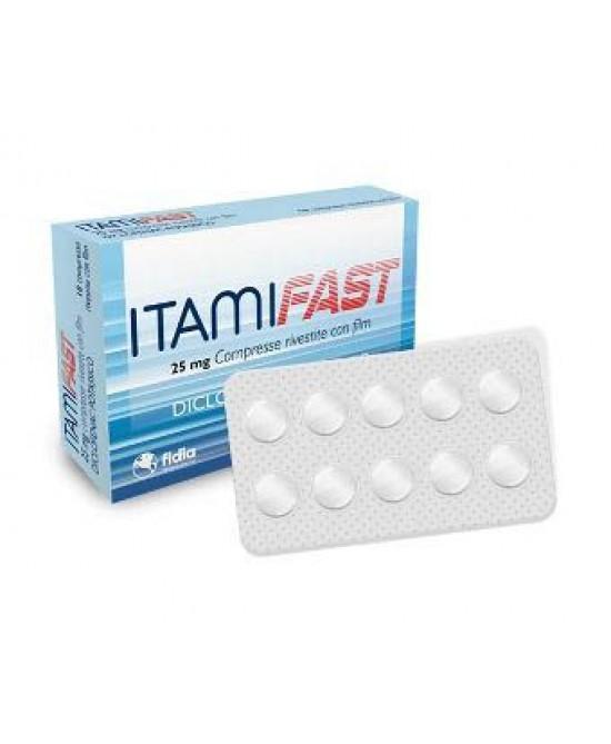 Fidia Itamifast 25mg Antinfiammatorio Ed Antidolorifico 10 Compresse Rivestite - La tua farmacia online