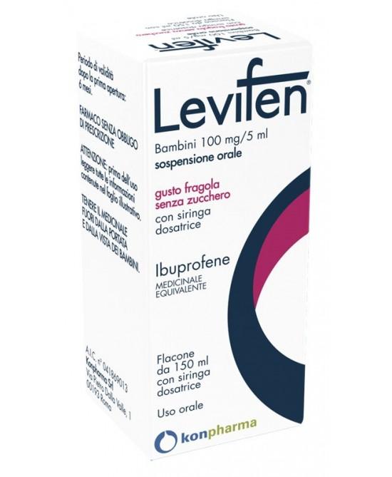 Levifen 100mg/5ml  Sospensione Orale Fragola 150ml - FARMAPRIME