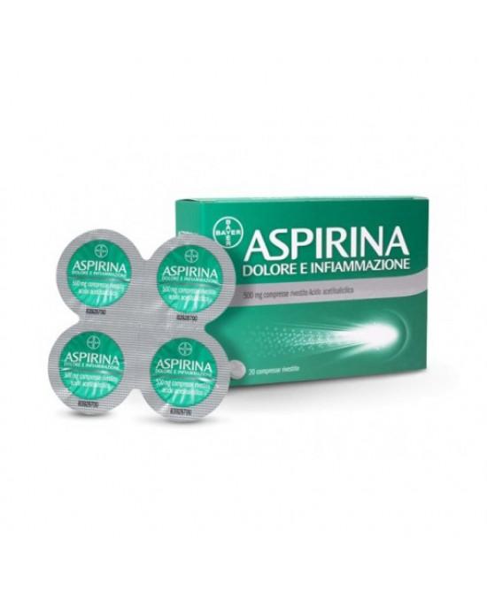 Aspirina Dolore E Infiammazione  500mg 20 Compresse Rivestite - Farmacia 33