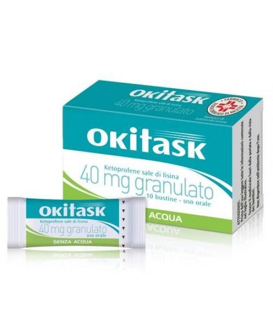 Okitask Granulato 30 Bustine Orosolubili x40mg - Farmacento