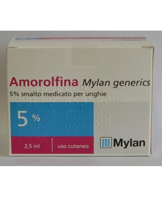 Amorolfina Mylan 5% Smalto Medicato Per Unghie 2,5ml - Zfarmacia