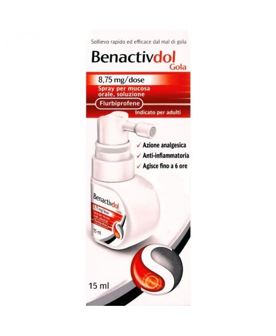 Benactivdol Gola Flurbiprofene 8,75mg Spray Mucosa Orale 15ml - La tua farmacia online