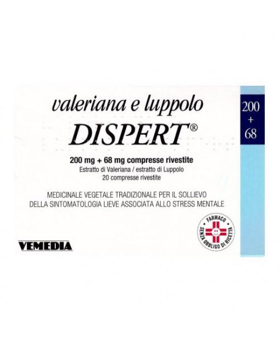 Vemedia Valeriana E Luppolo Dispert Tranquillante Naturale Per Ansia E Insonnia 20 Compresse - Farmastar.it