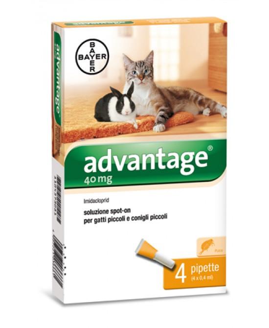 Bayer Advantage 40 Soluzione Spot-On 4 pipette Da 0,4ml - Farmacia 33