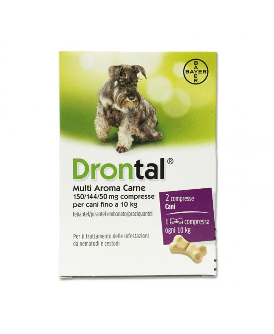 Bayer Drontal Multi Aroma Carne Integratore Alimentare Per Cani 2 Compresse - Farmacia 33