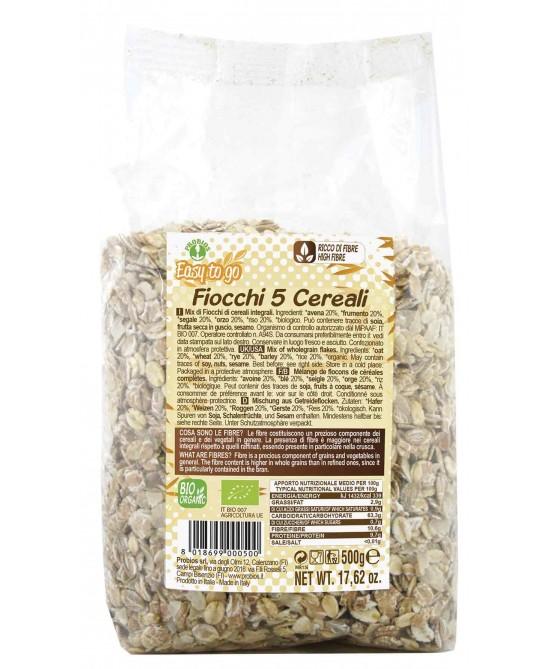 Easy To Go Fiocchi Ai 5 Cereali Biologico 500g - FARMAEMPORIO
