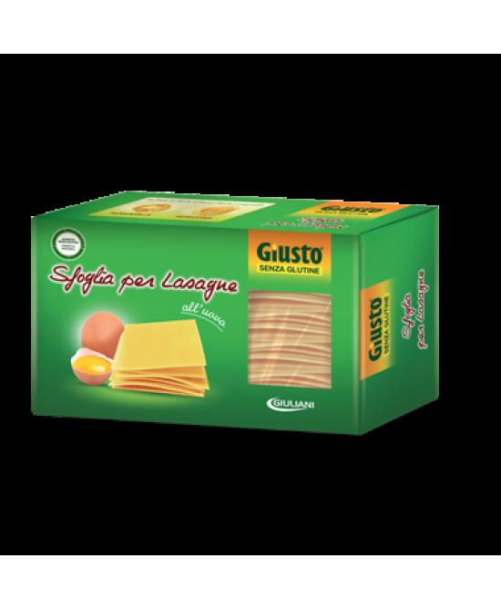 Giusto Sfoglie Per Lasagne All'Uovo Senza Glutine 250g - Farmacento