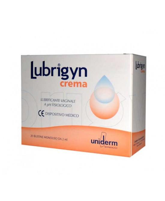 Uniderm Lubrigyn Crema Lubrificante Vaginale A Ph Fisiologico 20 Bustine Monodose - La tua farmacia online