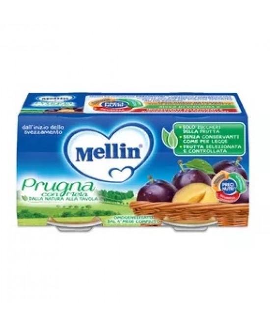 Mellin Omogeneizzati di Frutta Prugna con Mela 2 x 100 g - Farmalilla
