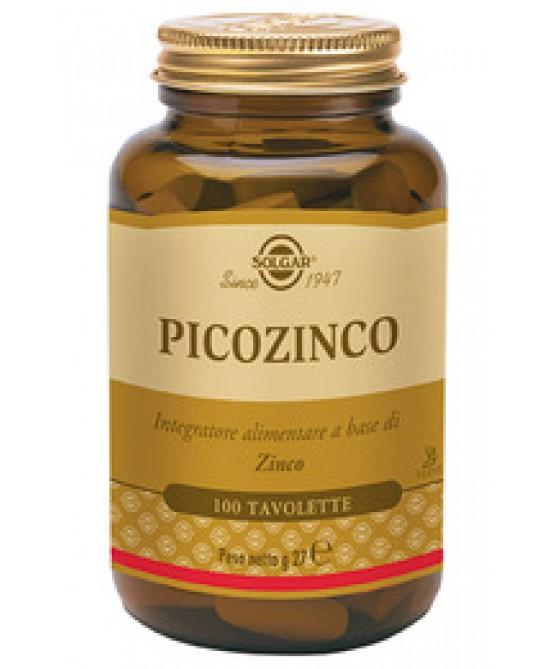 Solgar Picozinco 100 Tavolette - Farmacia 33