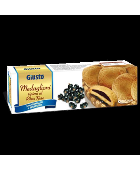 Giusto Biscotti Medaglioni Al Ribes Senza Zucchero 175g - Farmacento