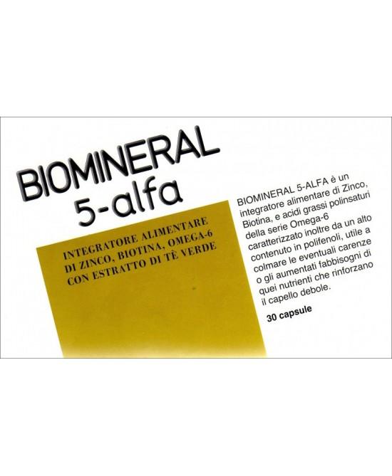 Rottapharm Biomineral 5-Alfa Integratore Alimentare 30 Capsule - Zfarmacia