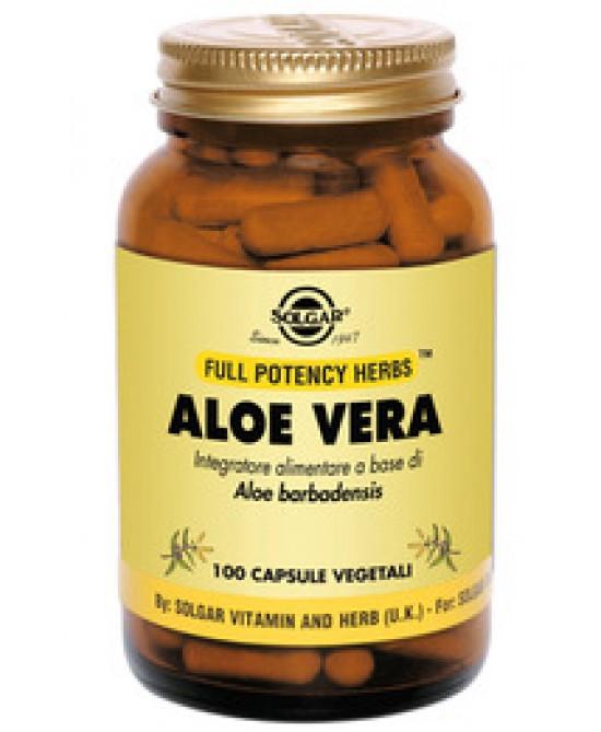 Solgar Aloe Vera 100 Capsule Vegetali - Farmacia 33